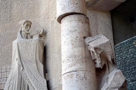 architectural details: Architectural details of the Sagrada Familia, Barcelona