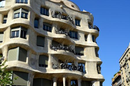 modernist: La Pedrera Casa Mila in the last civil work modernist building designed by Antoni Gaudi Editorial