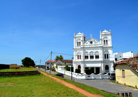 subcontinent: Galle fort mosque in Sri Lanka