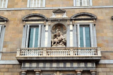 generalitat: Saint George Palau de la Generalitat Barcelona Catalan government