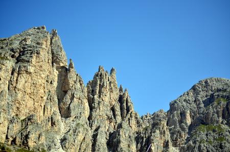 gardena: view of Gardena Pass in italian dolomites unesco