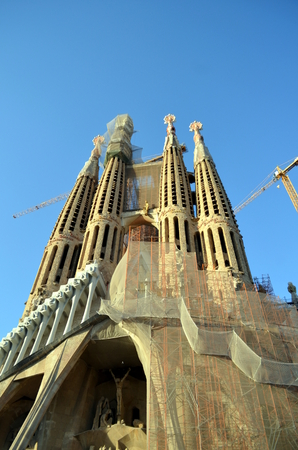 sagrada familia: Sagrada Familia Barcelona Stock Photo