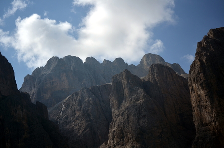 gardena: View of Gardena Pass situated in the Dolomites