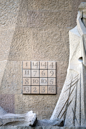 numbers: detail of the sagrada family door