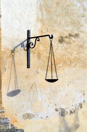 balanza de laboratorio: Balance icon of Goddess of justice
