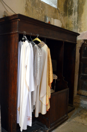 rood: Priest clothes in the wardrobe of the medieval church