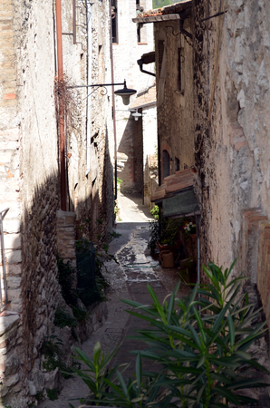 glimpse: Glimpse of a typical medieval village in Italy