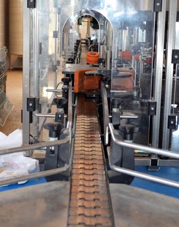 bottling: View of stainless steel wine bottling equipment