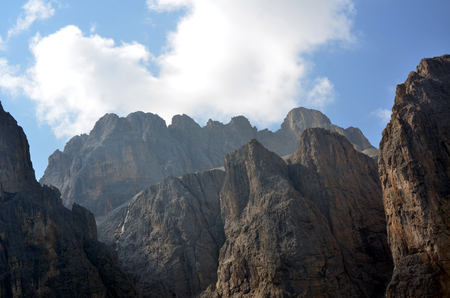 unesco: Gardena Pass dolomites protect by UNESCO Italy