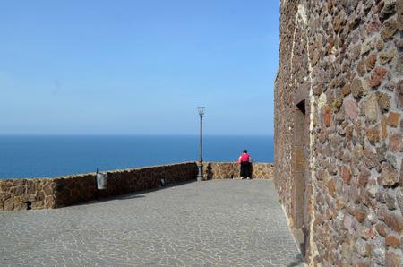 pictoresque: Narrow street in Castelsardo fortress