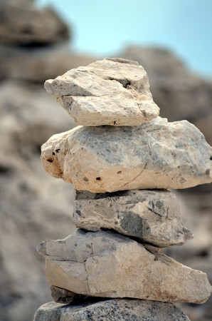 equilibrium: Pyramid of stones on the mountainside Stability and Equilibrium