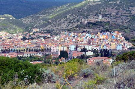 alte: Bosa Colorfull houses in Sardinia Italy