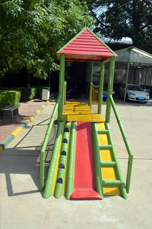 playground rides: children playground in the middle of a public park