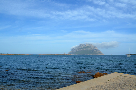 Panoramic view of the beach and the crystal sea of ??â €  Stock Photo