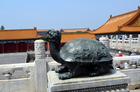 Bronze Turtle In The Imperial Palace Which Stands For Power And Long Life Forbidden City