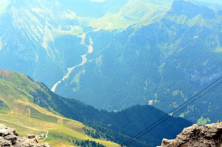 Italian Dolomites mountain landscape view