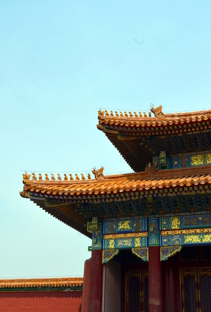 Pagodas pavilions within the Temple of Heaven complex in Beijing China Stock Photo