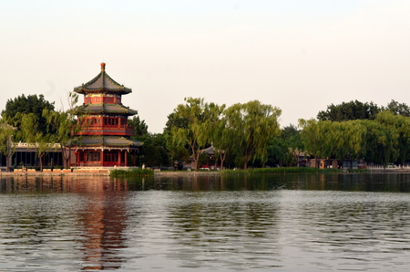 Shichahai Scenic Area The area is the capital of the old Beijing style to preserve the most perfect place