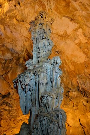 Inside the Ispingoli Karst Cave in Sardinia Italy