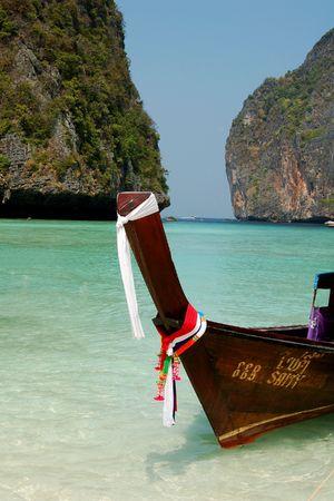 Long tail boat, Leonardo bay, Thailand photo