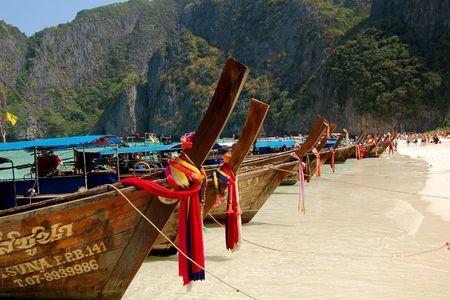 Long tail boat, Phi Phi, Thailand photo