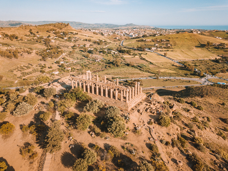 Selinunte, Sicily, Italy. Acropolis of Selinunte on the south coast of Sicily in Italy. Temple of Hera ruins of Doric style architecture. Foto de archivo