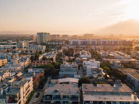 Los Angeles Venice beach aerial view district