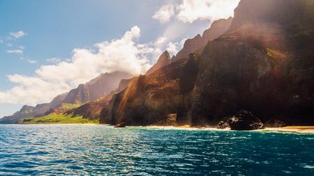 Beautiful view of spectacular Na Pali coast cliffs on Kauai island, Hawaii 写真素材