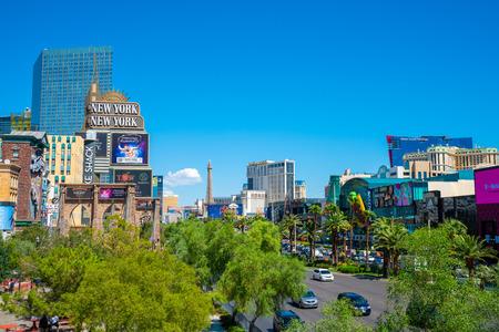 September 10, 2018. Las Vegas, USA. Beautiful Las Vegas strip view during day time.
