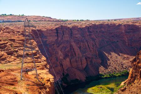 Beautiful Colorado River from Glen Canyon Dam in Grand Canyon