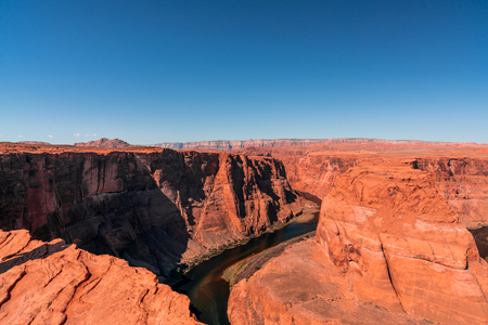Horseshoe Bend is a famous meander on river Colorado near the town of Page. Arizona, USA