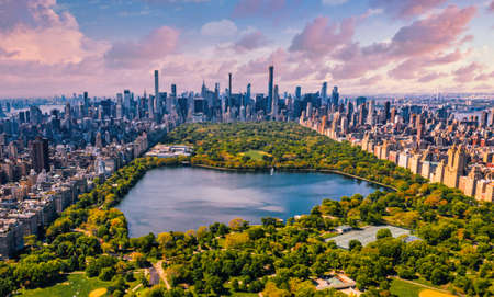 Central Park aerial view in Manhattan, New York. Reklamní fotografie