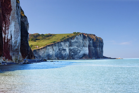 monet: Cliffs at Normandy coast, France Stock Photo