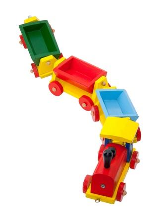 Bunte hölzernes Modell-Eisenbahn