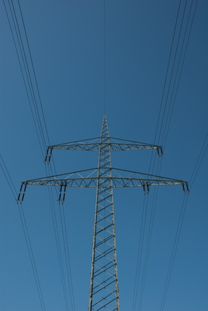 Steel lattice mast of a high voltage line Stock Photo - 9886464