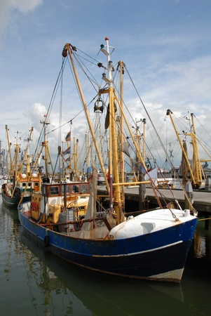 Fishing trawlers in the fishing port of Havneby on the Danish island of Romo Stock Photo - 9886477