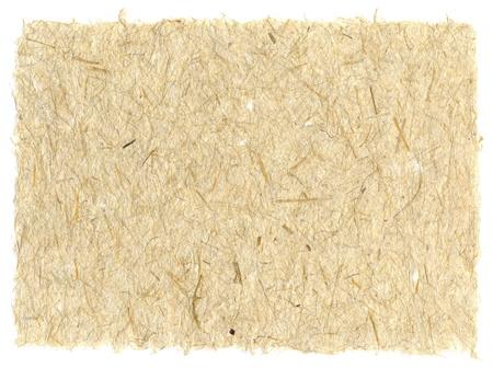 Blatt aus handgeschöpftem Papier mit Pflanzenfasern Standard-Bild - 10019139