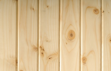 Planed and chamfered lumber from pine Stock Photo - 13595058