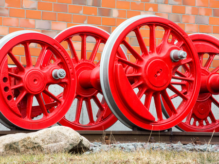 impeller: Wheels of a steam locomotive Stock Photo