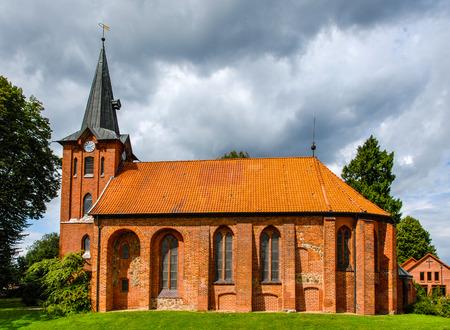 Kirche von Saint Maurice in Altenmedingen, Lüneburger Heide, Deutschland Standard-Bild