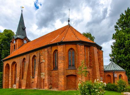 Kirche von Saint Maurice in Altenmedingen, Lüneburger Heide, Deutschland Lizenzfreie Bilder