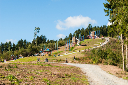 Spielplatz am Mount Bromberg in Medebach, Hochsauerland Lizenzfreie Bilder