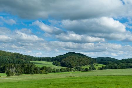 Mit Blick auf das Paradies und Berg in der Nähe von Winterkopf Medebach, Hochsauerland Lizenzfreie Bilder
