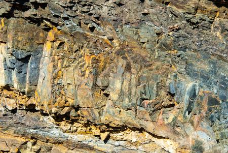 Details von Gesteinsschichten im Steinbruch bei Borghagen, Ddinghausen, District of Medebach im Hochsauer