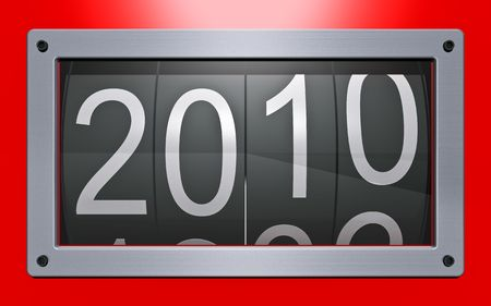 Stylized counter of new years Stock Photo - 5538128