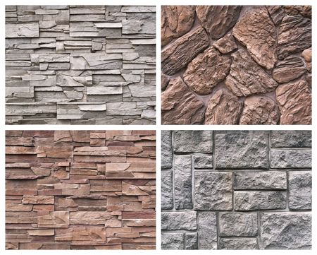 Set of textures from a stone and brick Stock Photo