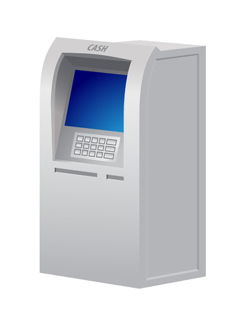 teller: Illustration of the automatic teller machine