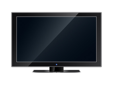 The modern flat television panel Vector