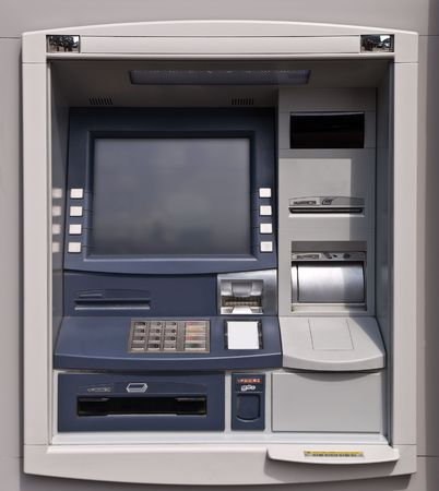 ATM machine point. Hole in the wall