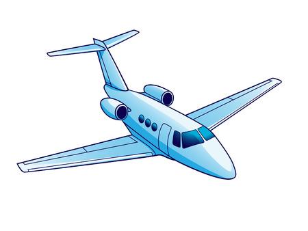 Illustration of airplane. Isolated on white background.